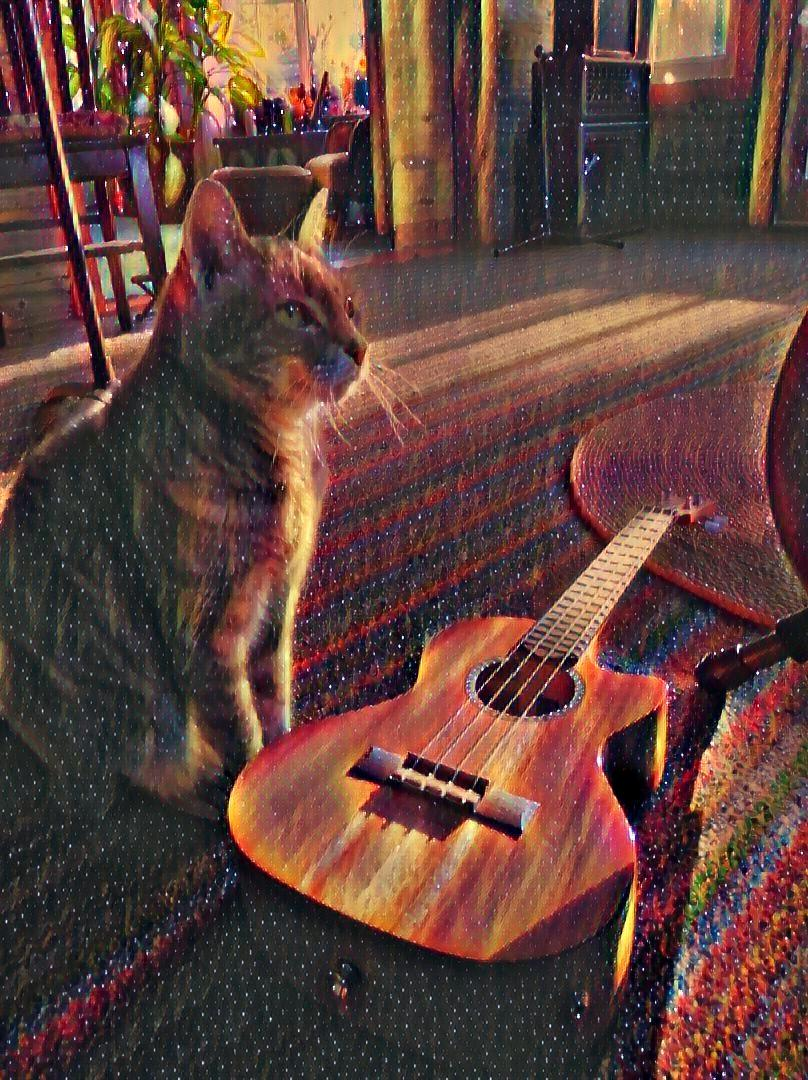 My Cat and Me and our Ukulele ~ a short poem by Katrina Curtiss 6/1/2020