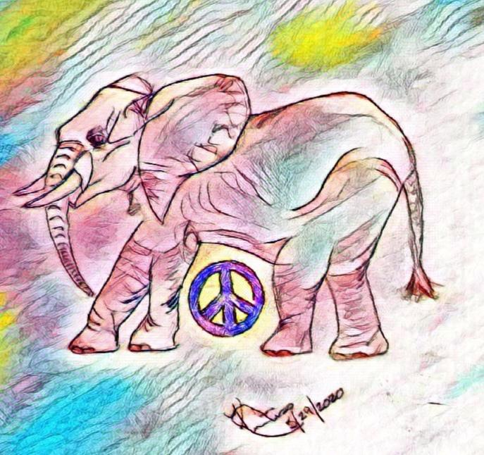 I Wish I Were An Elephant ~ a short poem by Katrina Curtiss 5/29/2020