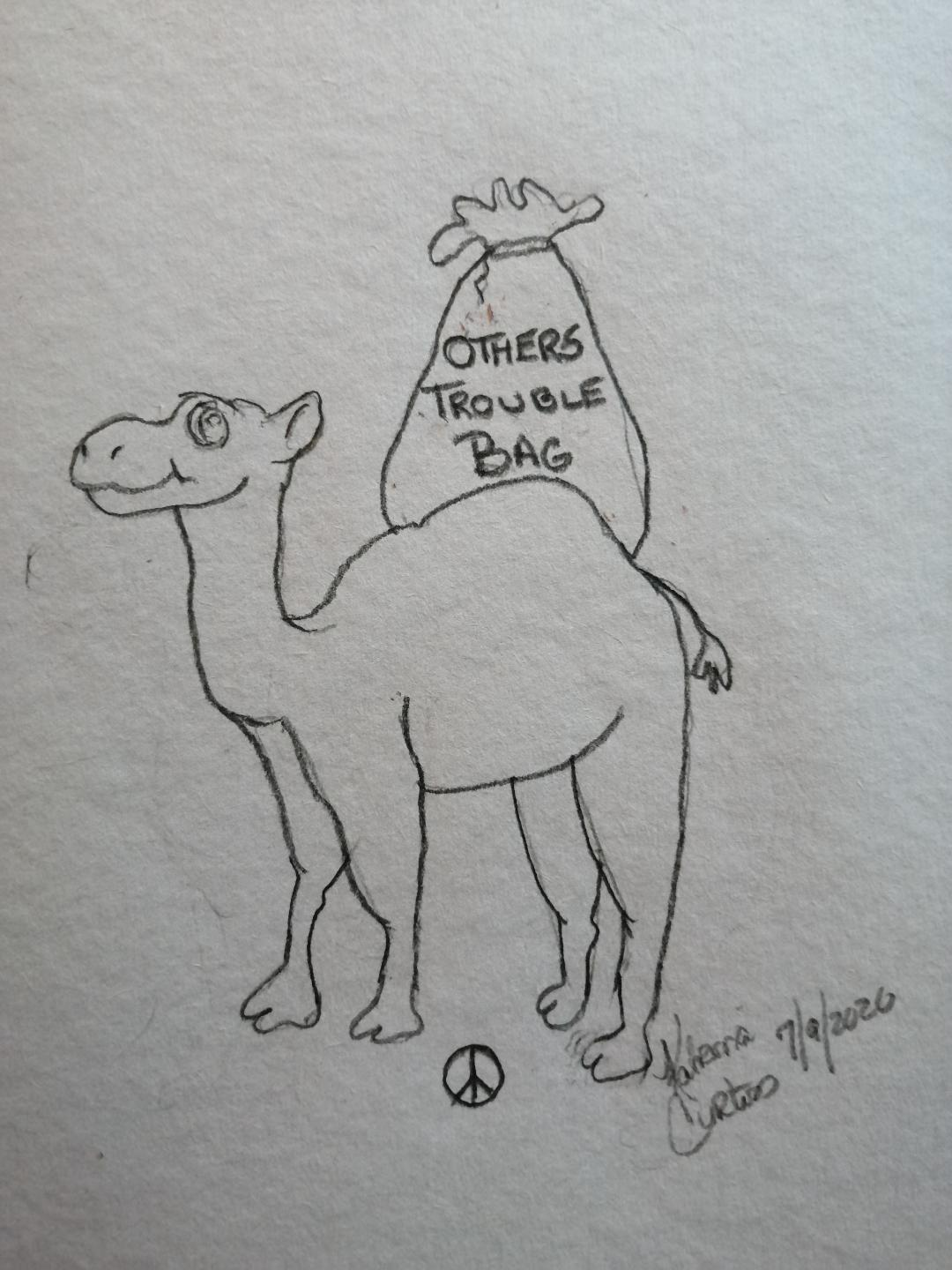 The Camel ~ a short poem by Katrina Curtiss 7/9/2020