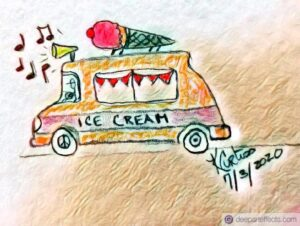 The Case Of The Mysterious Ice Cream Truck ~ by Katrina Curtiss 7/3/2020