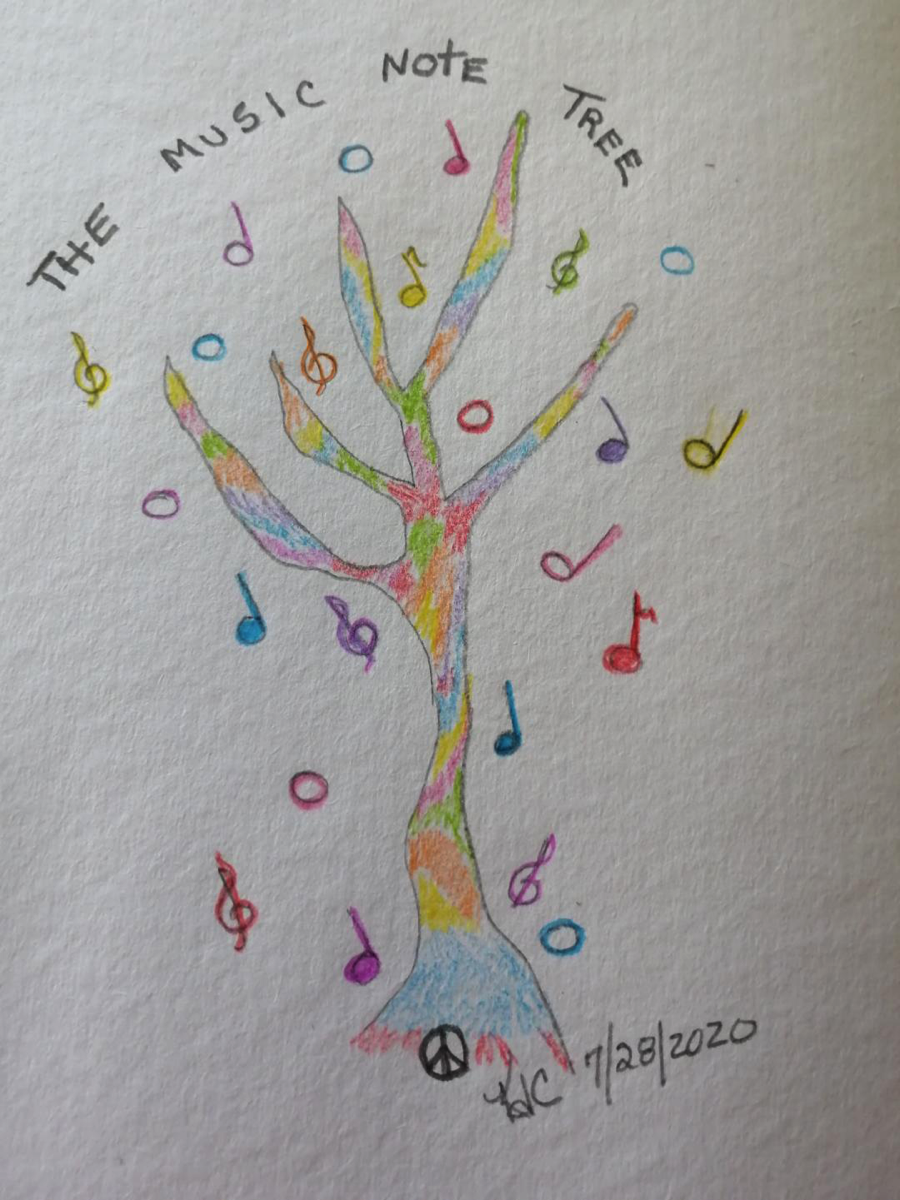 The Music Note Tree ~ by Katrina Curtiss 7/28/2020
