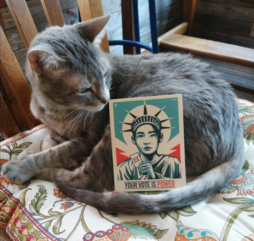 My Cat has a Political Agenda ~ a short poem by Katrina Curtiss 8/31/2020