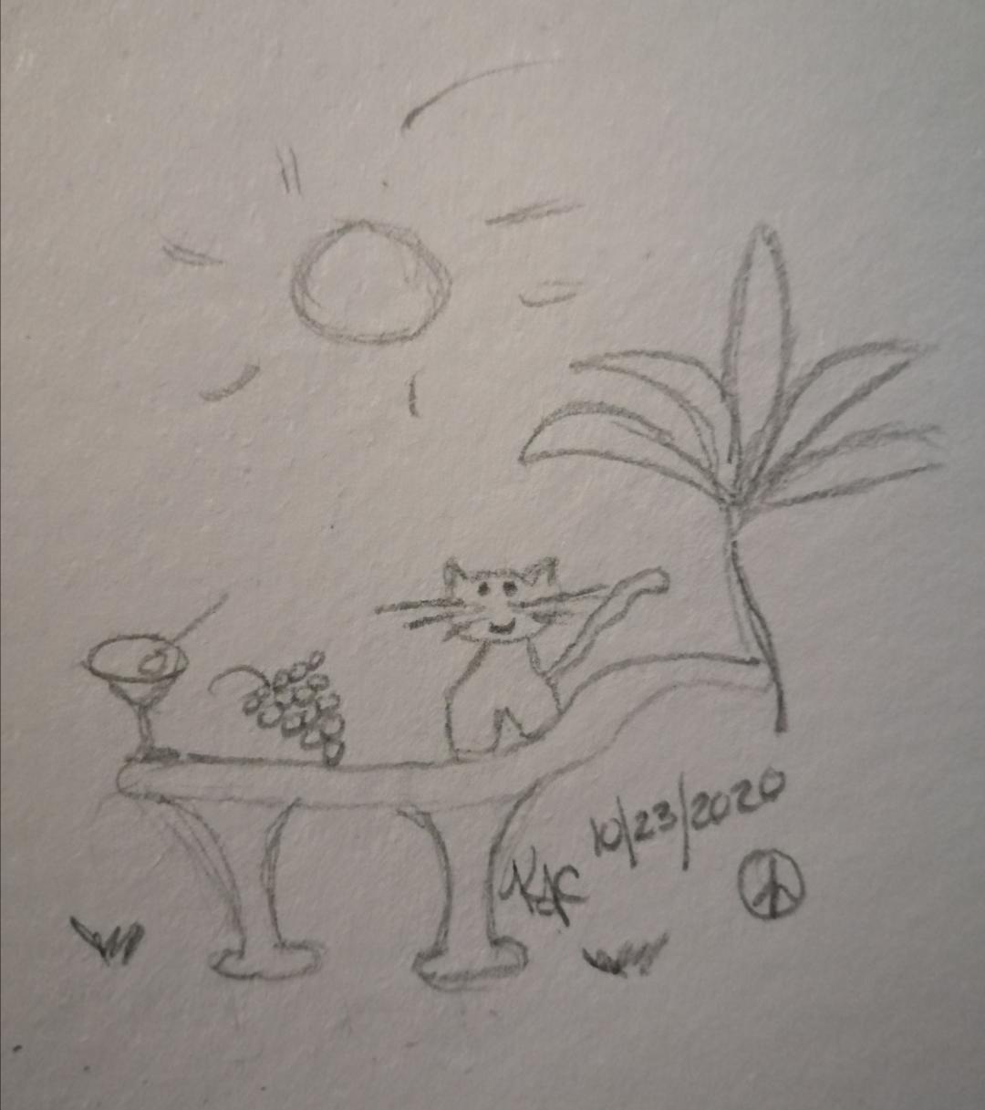 My Cat Loves To Eat Grapes ~ by Katrina Curtiss 10/23/2020