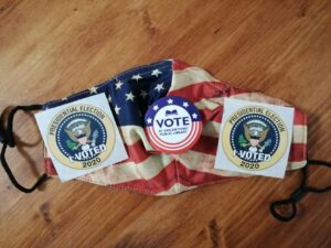 """The Color of Today's Clear Sky Is The Same As My Vote."" ~ by Katrina Curtiss 10/13/2020"