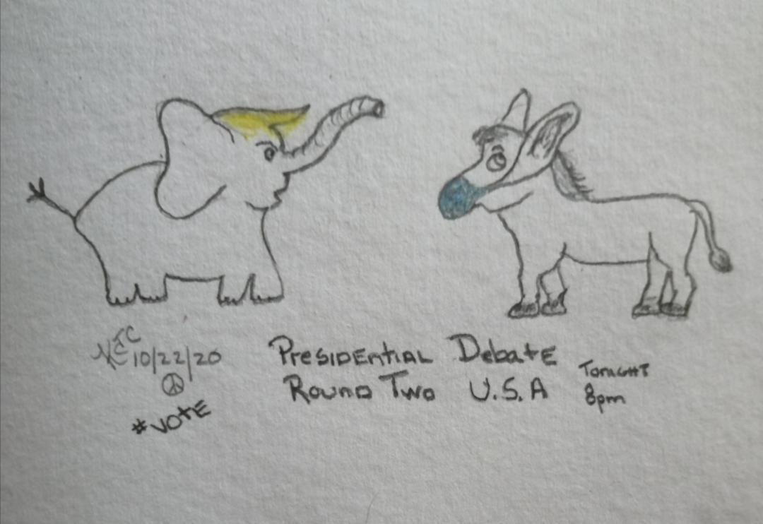 Pre-Presidential Debate #2 ~ by Katrina Curtiss 10/22/2020