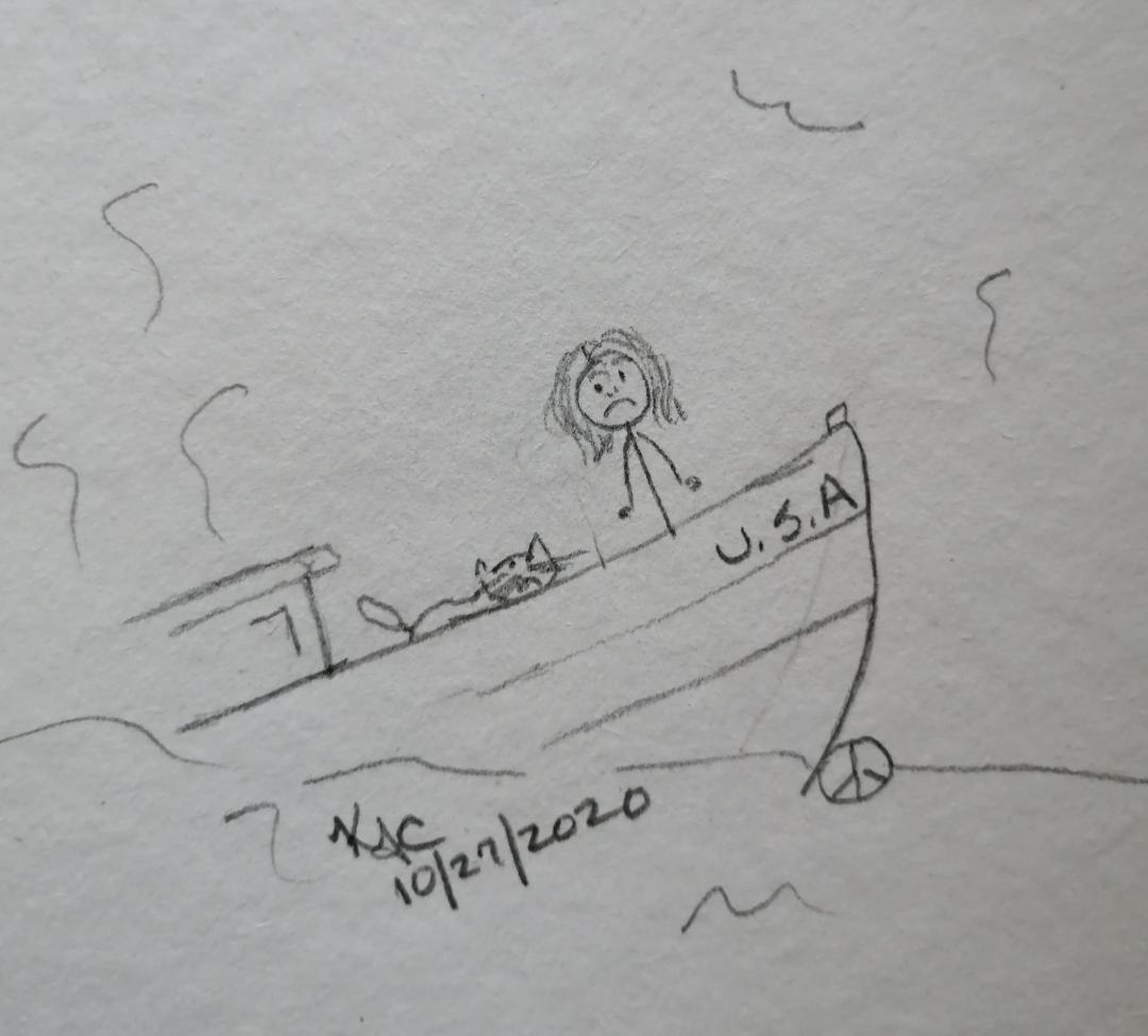 The Sinking Ship ~ 7 Days And Counting~ Katrina Curtiss 10/27/2020