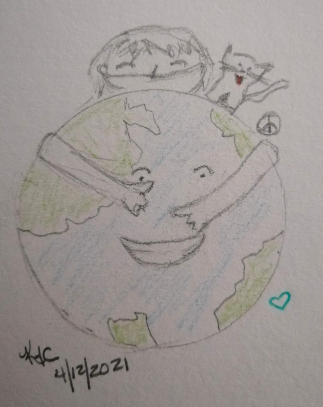 Earth Cuddle ~ Katrina Curtiss  4/12/2021