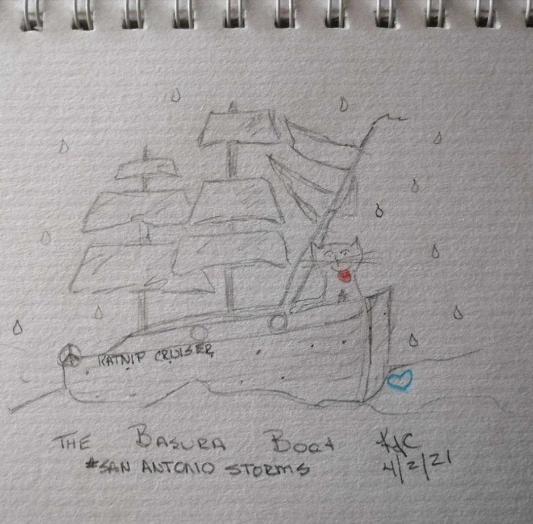 My Cat Went A Sailing © ~ Katrina Curtiss 5/2/2021
