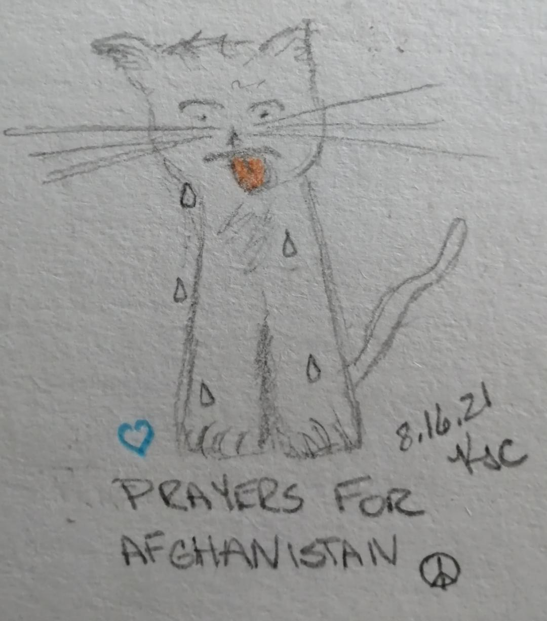 Read more about the article My Cat And News From Afghanistan © ~ Katrina Curtiss 8.16.21