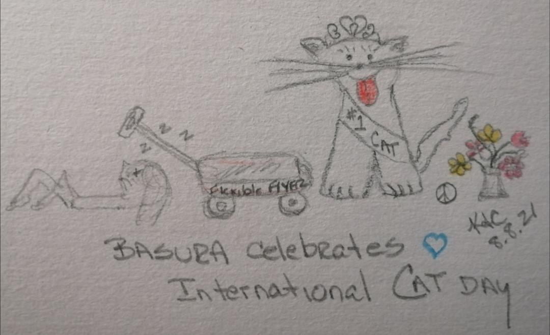 Read more about the article My Cat Celebrates International Cat Day ~ Katrina Curtiss 8.8.21